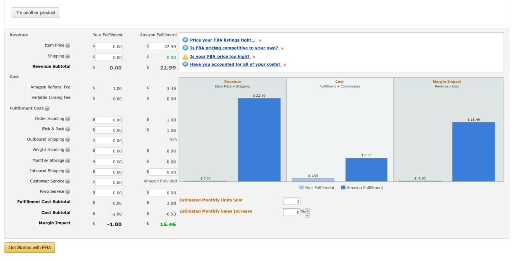 how monitoring the amazon fba calculator can generate more